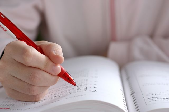 勉強している人