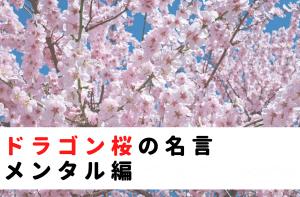 ドラゴン桜の名言|メンタル編