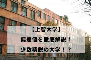 【上智大学】偏差値を徹底解説!少数精鋭の大学!?