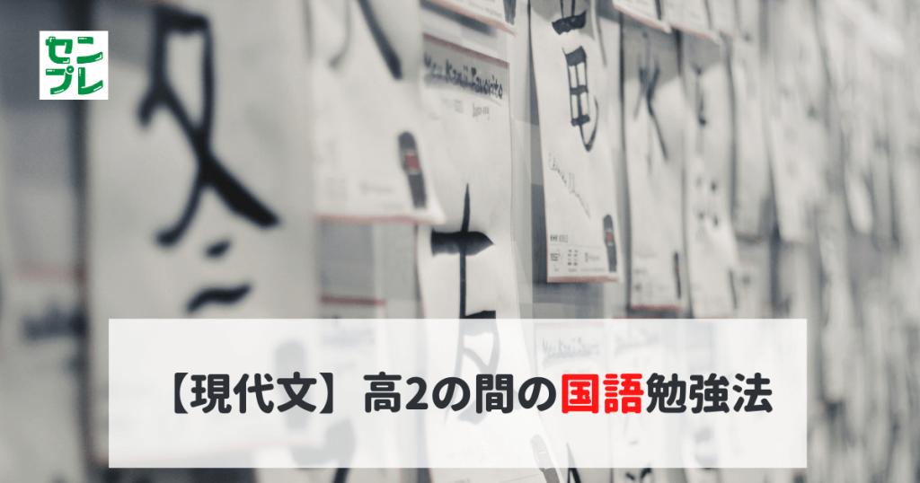 【現代文】高2の間の国語勉強法