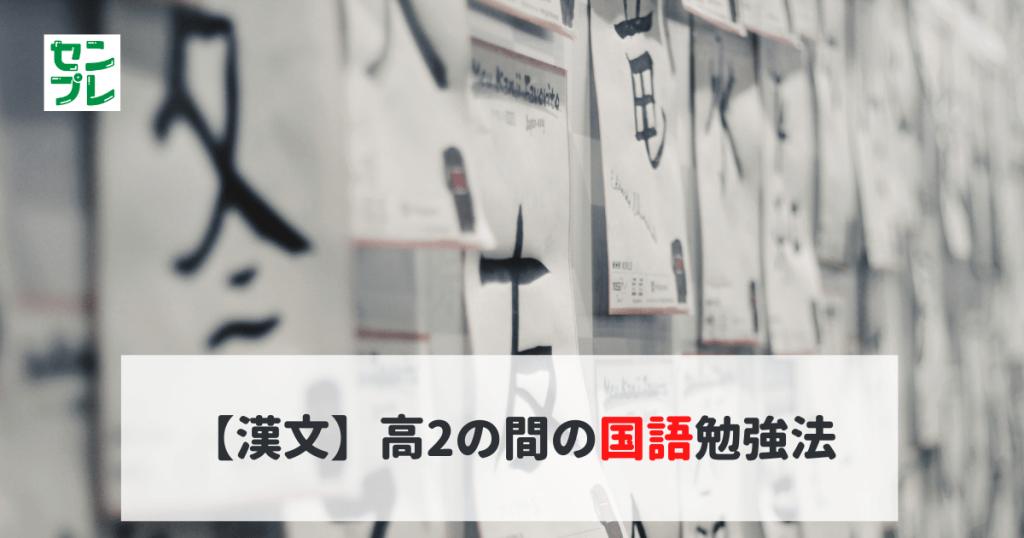 【漢文】高2の間の国語勉強法