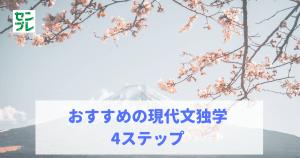 おすすめの現代文独学4ステップ